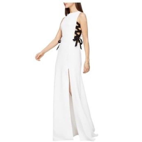 c60d749872 BCBG Dauphine Gown Black White- Sz. 0-  398- NWT!